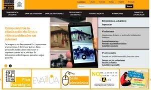 Web Agencia Protección de datos